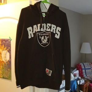 Oakland Raiders full-zip hooded sweatshirt- XL